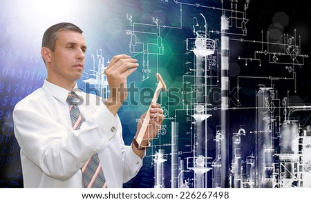 Engineering industrial design.Engineer - stock photo