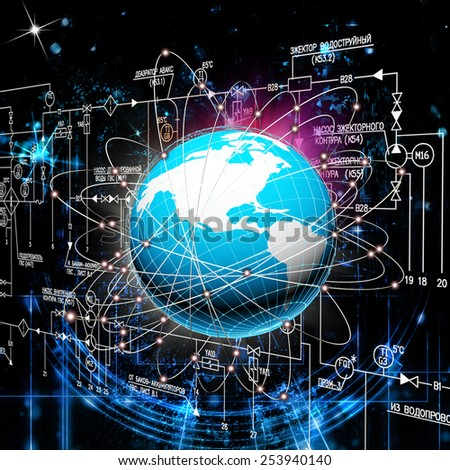 Engineering industrial technologies - stock photo
