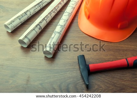 Engineering project - stock photo