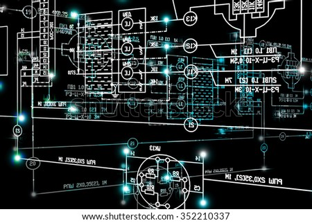 Engineering scheme.Abstract industrial background