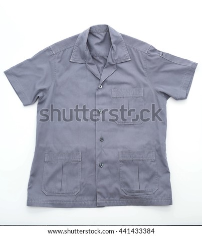 engineering shop shirt on white background