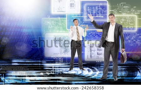 Engineering technology.Connection - stock photo