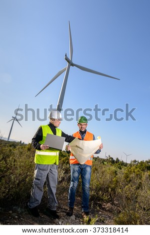 Engineers of wind turbine control projects and production. / Engineers of Wind Turbine