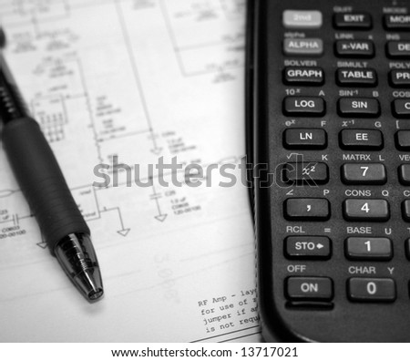Engineers Workspace - stock photo