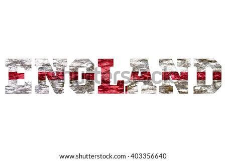 England Country Name - stock photo