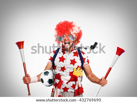 England fan - stock photo