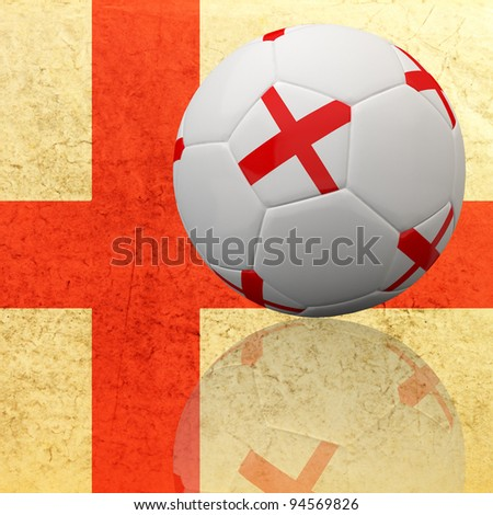 England flag on 3d football for Euro 2012 Group D