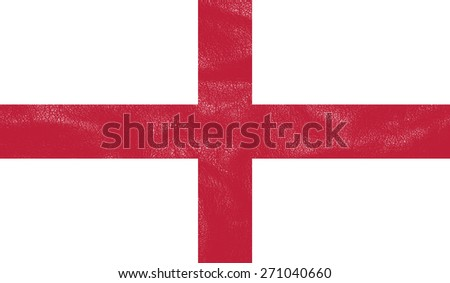England flag on leather texture - world flag leather textured - stock photo