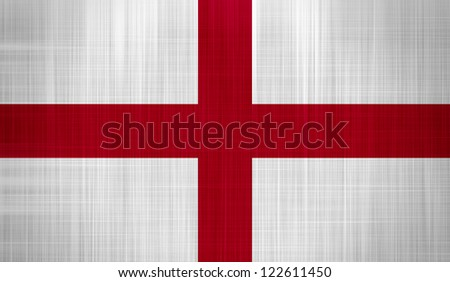 England Flag with a fabric texture - stock photo