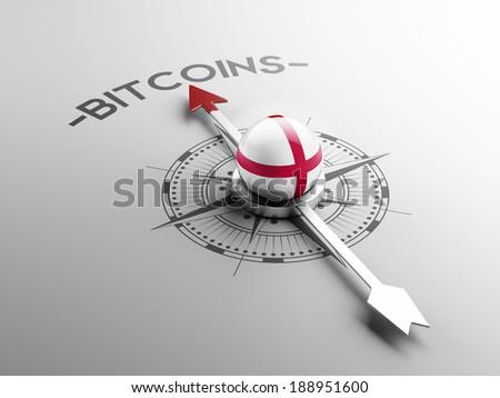 England High Resolution Bitcoin Concept - stock photo