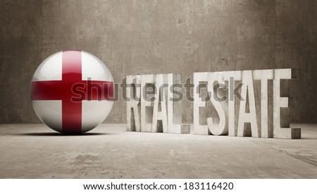 England High Resolution Real Estate Concept - stock photo