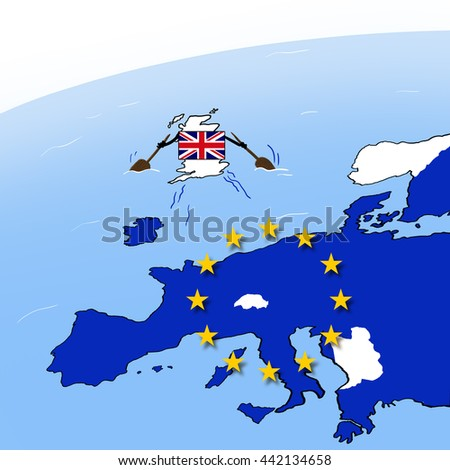 England leaving Eu. United Kingdom referendum result go in different directions