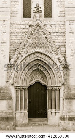 Door Of Wesley Memorial Church Oxford Gothic Revival Architecture