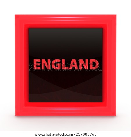 England square icon on white background