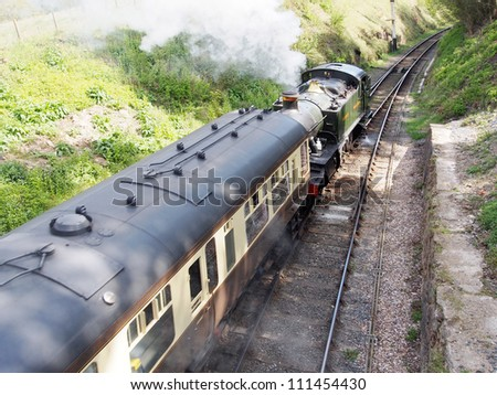 england worcestershire severn valley preserved steam railway arley station - stock photo