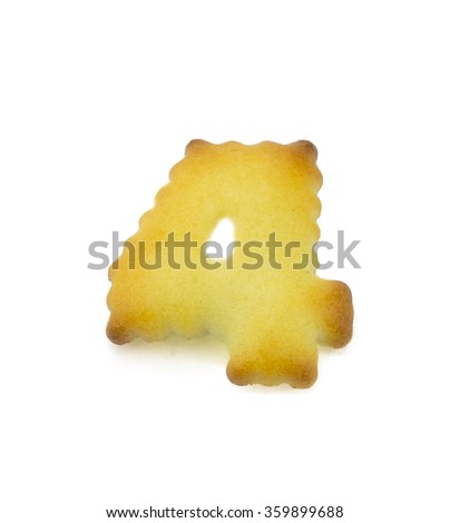 English alphabet made from bread.Letters of the British alphabet made of gingerbread. - stock photo