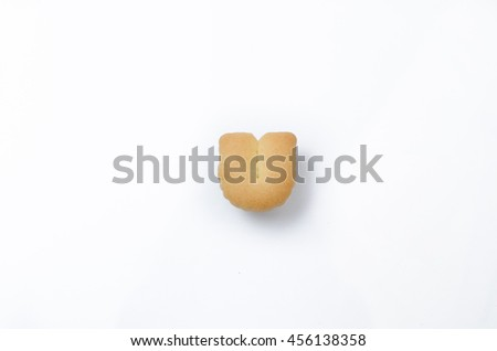English alphabet made from bread. Letters of the British alphabet made of gingerbread. The letter U - stock photo