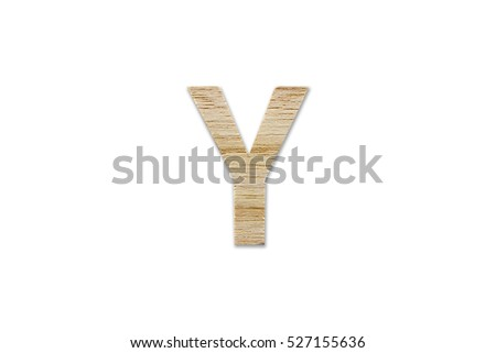 English alphabet y made wood isolated stock photo download now english alphabet y made from wood isolated on white background with clipping path altavistaventures Images