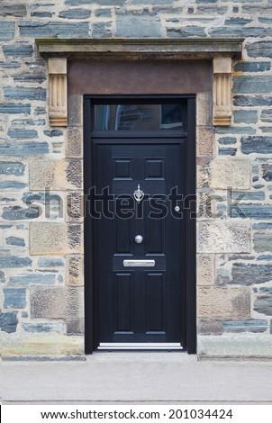English black door - stock photo