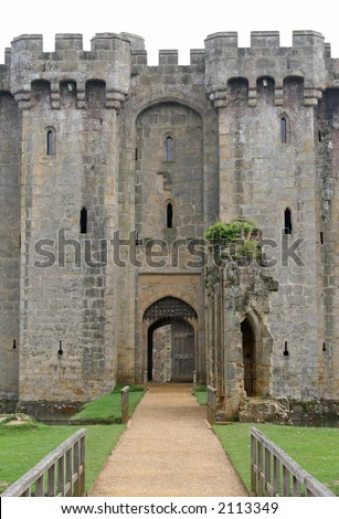 English castle fortification, in England, UK - stock photo