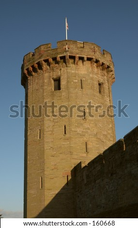 English Castle Tower - stock photo