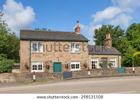 English cottage house view
