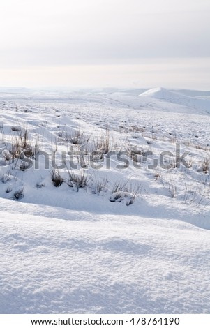 English countryside covered in snow