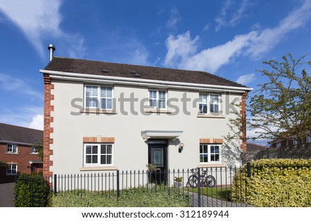 English detached house with garden