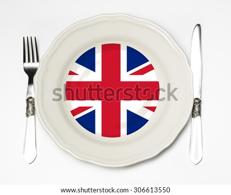 English flag plate - stock photo