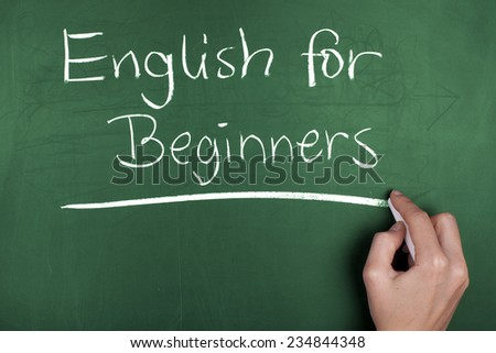 English For Beginners / English Education Learning Concept - stock photo