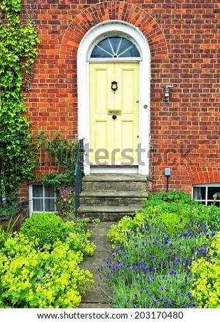 english front door - stock photo
