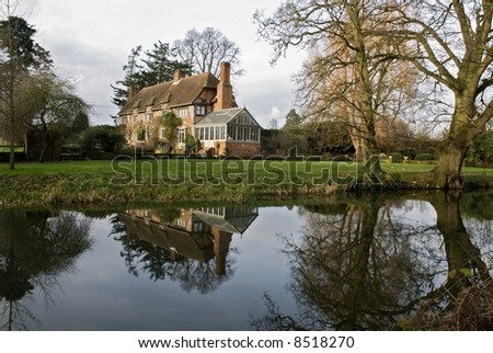 English house on canal