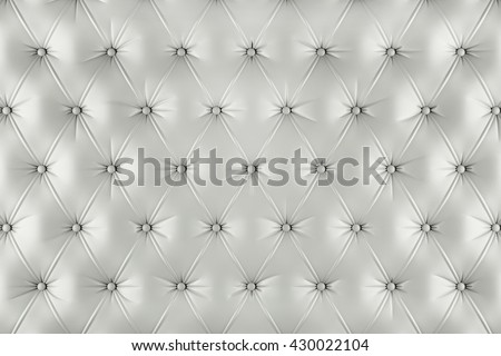 English ivory genuine leather upholstery, chesterfield style background. 3D rendering - stock photo