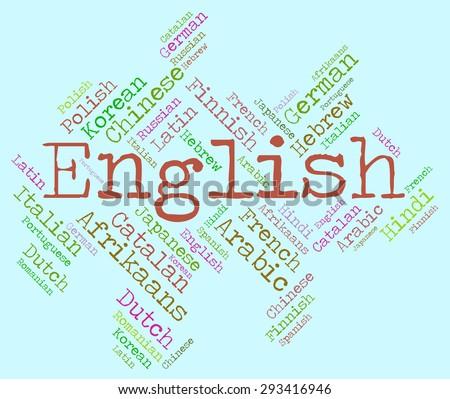 English Language Meaning Britain Speech Translator Stock