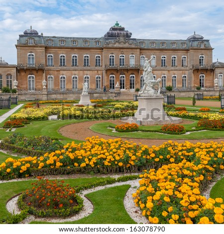 English mansion in French style, Berdfordshire, UK - stock photo