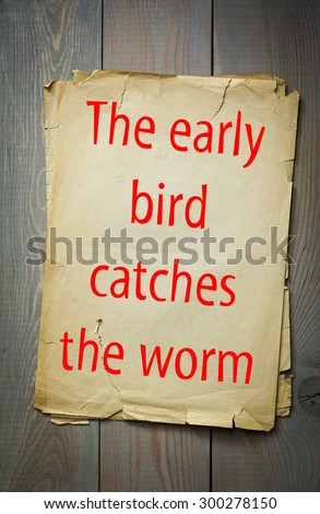 Early Bird Catches the Worm Essay