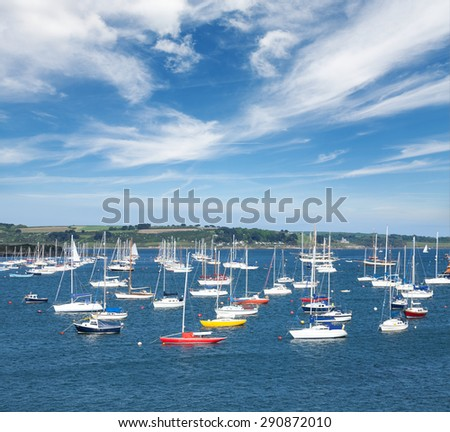 English seaside view.Cornwall. - stock photo