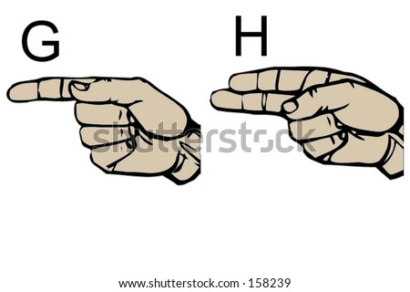 English Sign Language Letters G and H