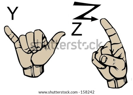 sign language letters sign language letters y z stock photo 158242 10224