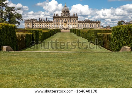 English stately home near the city of York in North Yorkshire, UK. - stock photo