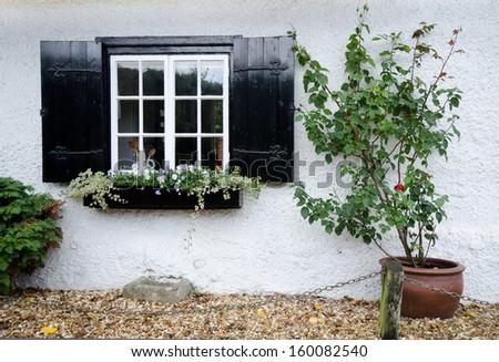 english village window - stock photo