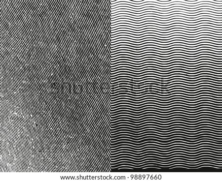 Engraving Texture. Grunge Strokes Background. Rasterized Version - stock photo