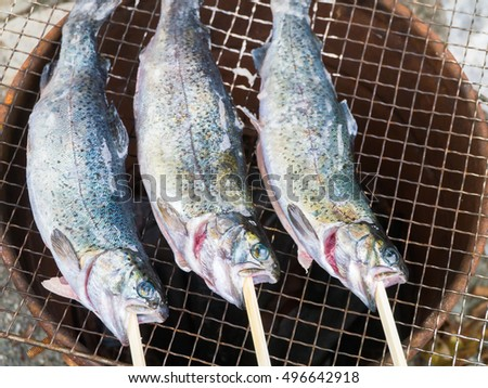 Enjoy fish and meat at BBQ
