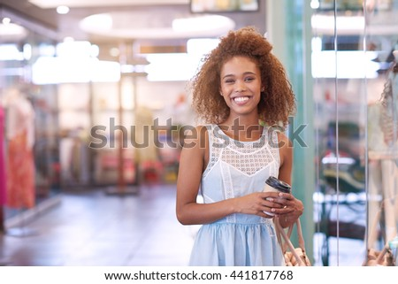 Enjoy the mall even without shopping - stock photo