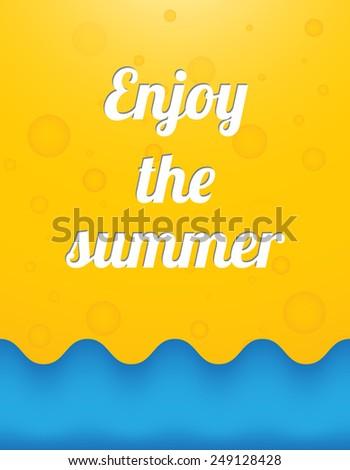Enjoy the summer, beautiful summer background - stock photo