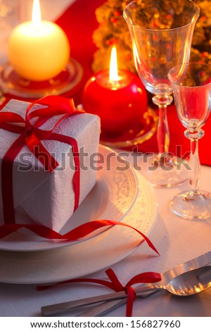 Enjoy your Christmas dinner - stock photo