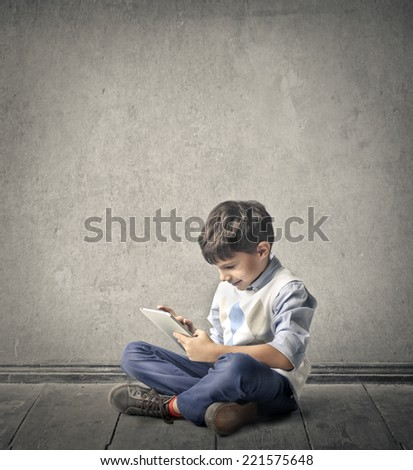 Enjoying the time spent learning  - stock photo
