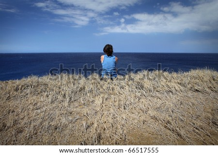Enjoying the View - stock photo