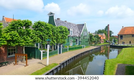 Enkhuizen small fishing village in the Netherlands - stock photo