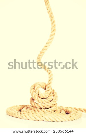 Enrolled rope.  - stock photo